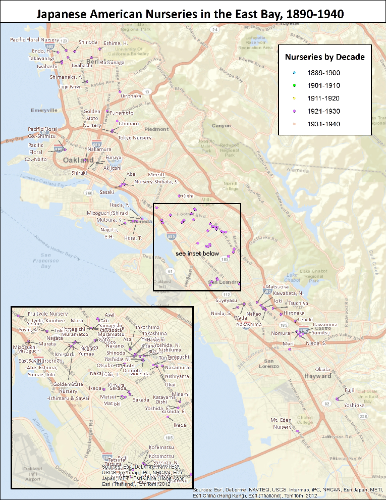 Japanese-American nurseries of the San Francisco Bay Area from 1921 through 1930