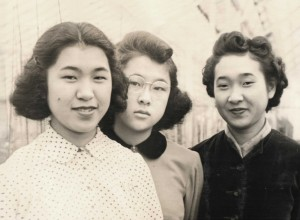 Takako (on right) and sisters, 1940.