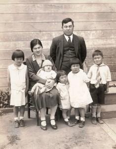The Yoshida family on Krause Ave., ca. 1929-1930.